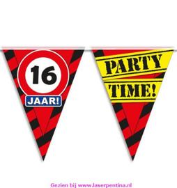 Vlaggenlijn 16 jaar PARTYTIME