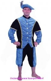 Piet pak blauw-zwart