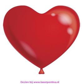 """Hart Ballonnen effen kleur rood Ø 10"""""""