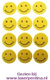 Foam Stickers Smiley geel