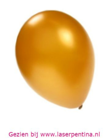 "Effen Ballon metallic goud 14"" PC"