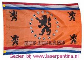 Voetbalvlag oranje Leeuw
