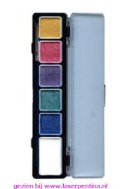 Aqua Paintpalet 6 metallic Kleuren