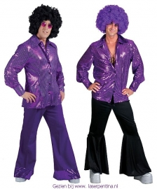 Disco glitter Shirt purple