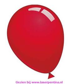 """Effen kleur Ballonnen decoratie robijn rood 12"""" [50]"""