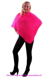 Poncho fluor pink