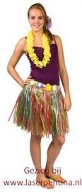 Hawaïrokje multicolor kort