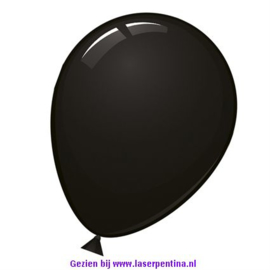 "Effen kleur Ballon decoratie zwart 12"" [50]"