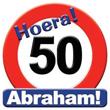 Verkeersbord 'Abraham'