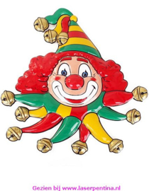 Wanddeco Clown rd/gl/grn