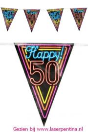 Vlaggenlijn Neon Happy '50'
