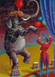 Houten  Legpuzzel Circus OLIFANT 24 stukjes
