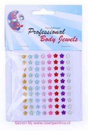 Body jewels 80 bloemetjes 6 mm