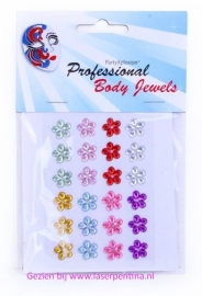 Body Jewels 24 bloemetjes 10 mm