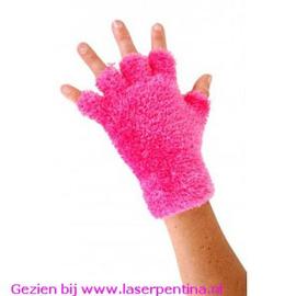 Vingerloze Handschoenen Softy roze