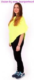 Poncho fluor geel