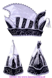 Prinsenmuts zwart/wit
