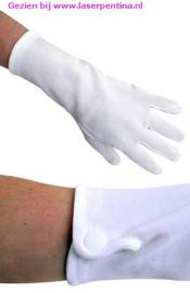 Handschoenen wit Drukknoopjes