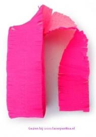 Crepe Guirlande fluo roze