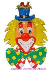 Wanddeco Clown 3D + Hoed