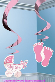 Hangdecoratie Swirl 'It's a Baby Girl