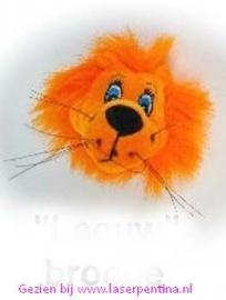 Leeuw Oranje Broche