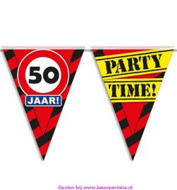 Vlaggenlijn 50 jaar PARTYTIME