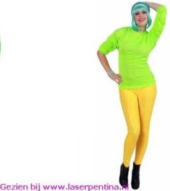 T- Shirt fluor groen lange mouw