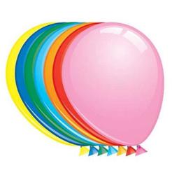 """Effen Ballon 12"""" pastel kleur assorti"""