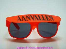 Kinderbril oranje 'Aanvallen'