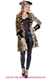 Jas tijgerprint dames