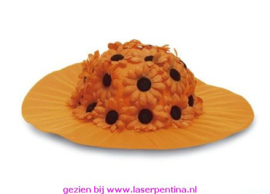 Bloemenhoed oranje