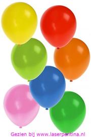 "Effen Ballon 10"" Assorti Kleuren"