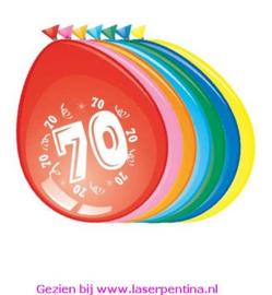 Cijfer opdruk Ballon '70'