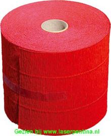Crepe Papier op Rol Rood