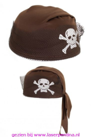 Piraten cap bruin