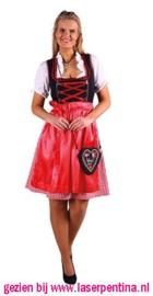 Dirndl 'Jana' zwart-rood