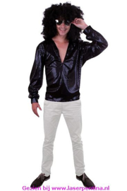Disco Blouse Glitter Pailletten