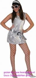 Disco Jurk pailetten zilver
