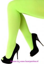 Panty effen fluor groen