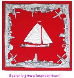 Zakdoek rood Holland Skutsje