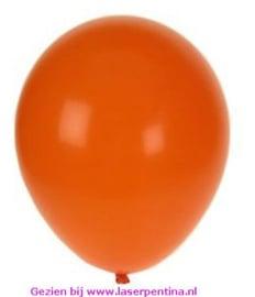 "Effen kleur Ballon uni oranje 10"" [100]"
