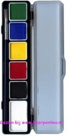 Paintpalet 6 reguliere kleuren