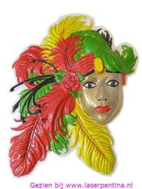 Wanddeco Charleston Carnaval
