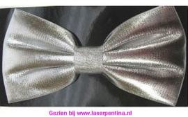 Vlinderstrik effen zilver