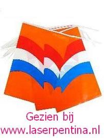 Vlaggenlijn oranje rd/wt/blw