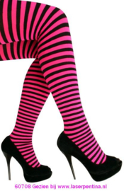 Panty streep roze/zwart