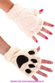 Vingerloze Handschoenen dierenpootje