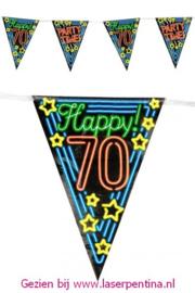 Vlaggenlijn Neon Happy '70'