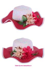 Strandhoed rose/wit